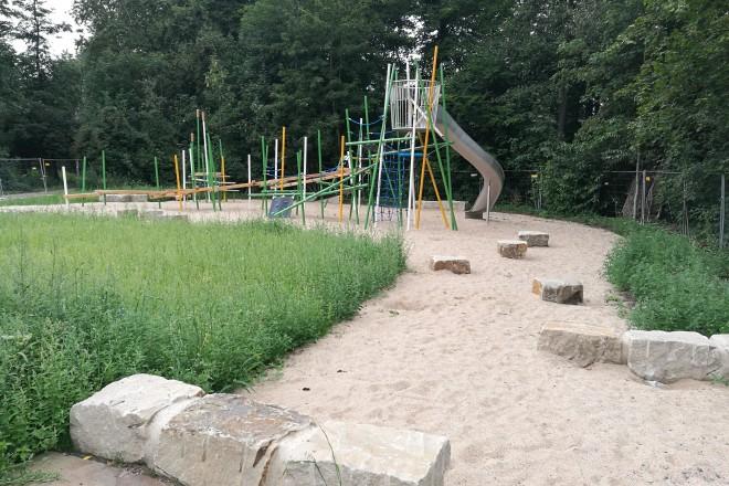 Der umgestaltete Spielplatz im Grünzug Katernberger Bach. Foto: Stadt Essen