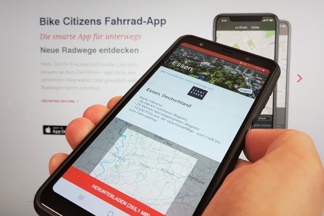 "Foto: Fahrrad-App ""Bike Citizens"""