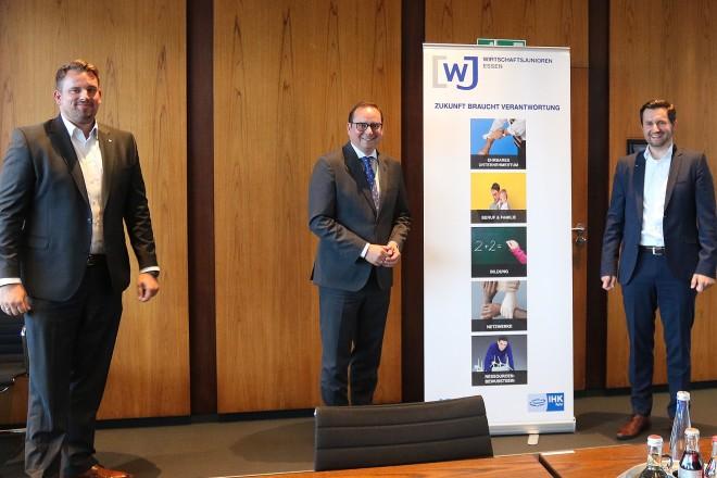 Oberbürgermeister Thomas Kufen zu Gast bei den Wirtschaftsjunioren