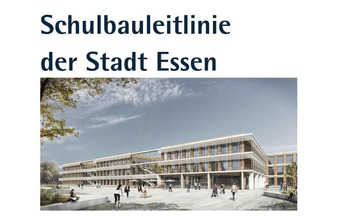 Deckblatt der Schulbauleitlinie der Stadt Essen