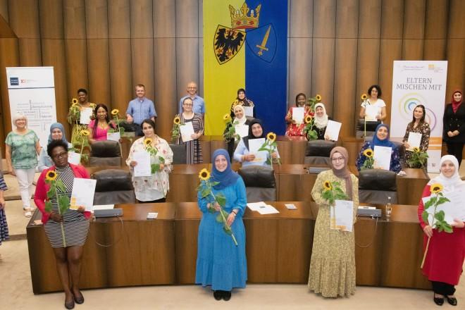 Foto: Teilnehmerinnen der Aktion Eltern mischen mit - Mitwirken heißt verändern
