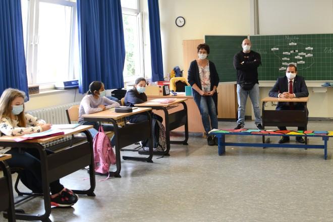 Oberbürgermeister Thomas Kufen besuchte die Parkschule in Altenessen-Süd.