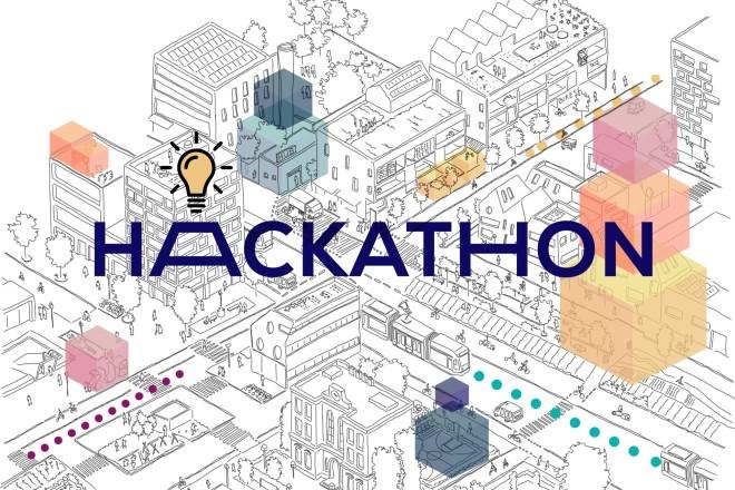 """Grafik: """"Beweg Dein Quartier"""" Hackathon"""