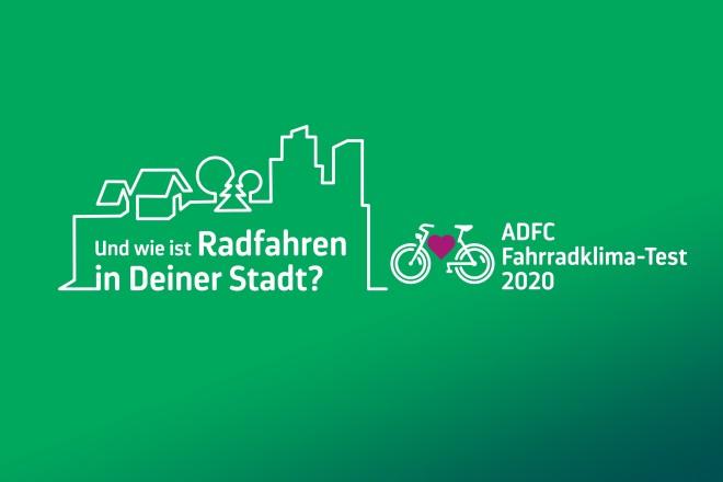 KeyVisual ADFC-Fahrradklima-Test 2020