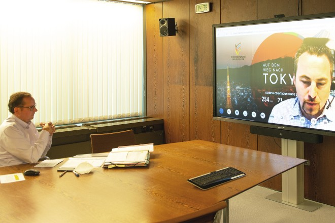 Oberbürgermeister Thomas Kufen nahm an der digitalen Regionalkonferenz im Essener Eliteschulverbundsystem teil.