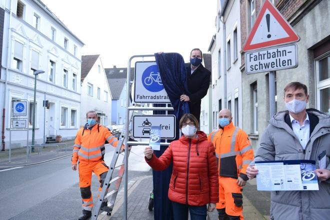 Foto: Freigabe der Fahrradstraßenachse C