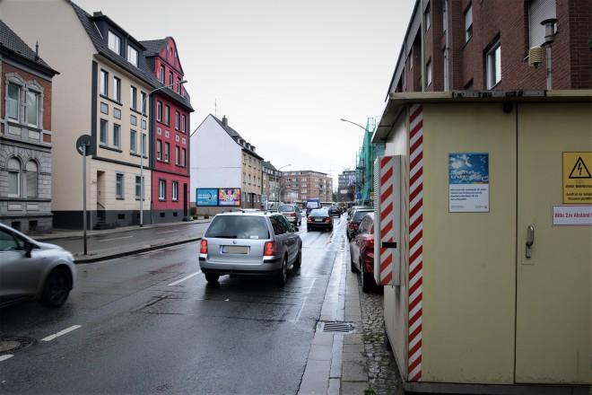 Foto: Messstelle an der Gladbecker Straße in Altenessen