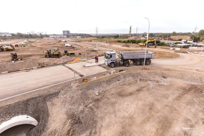 Die Baumaßnahmen für das neue Stadtquartier ESSEN 51. schreiten sichtbar voran.