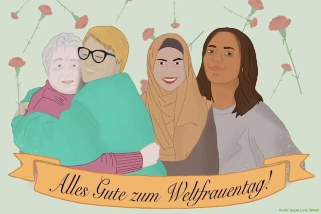 """Grafik: Postkartenmotiv zur Aktion """"Komma-Mitmachen"""""""