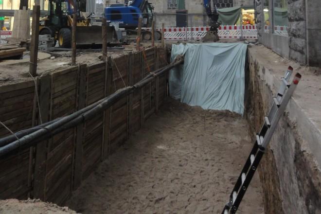 Blick in die untersuchte Baugrube
