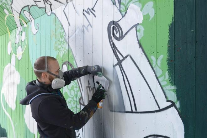 Graffitikünstler Jan Schoch
