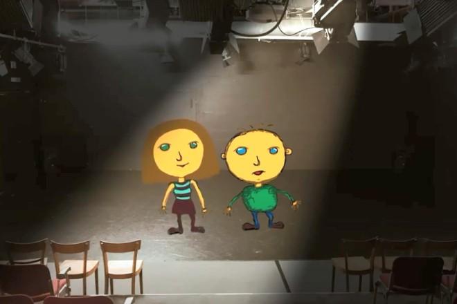 In einem Online-Theaterworkshop können Kinder und Jugendliche digitale Marionetten entwerfen und animieren.