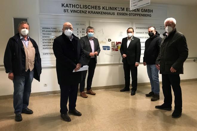 Begehung des St. Vincenz-Krankenhauses im Anschluss an den Kick-off.