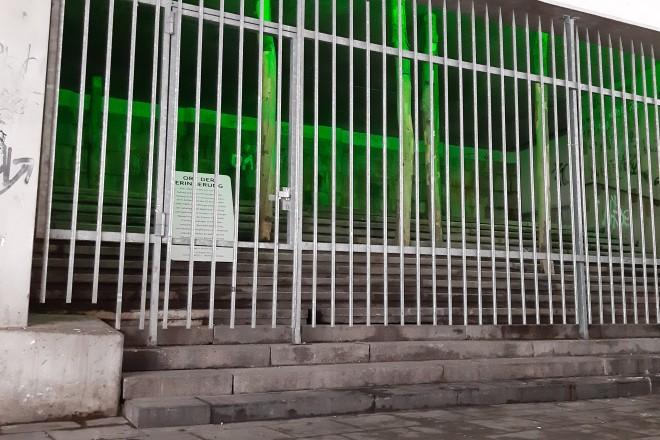 """Die Gedenkstätte """"Stadtwunde"""" unterhalb der Rathausgalerie."""