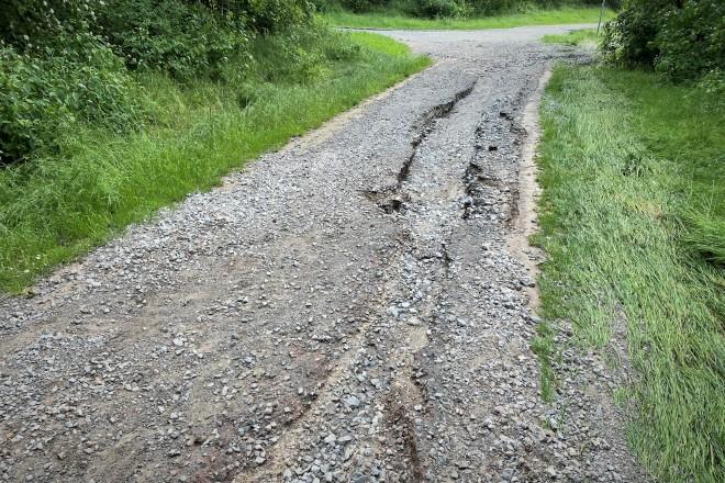 Unter anderem in der Grünanlage Flandernstraße wurden Wege erheblich durch den Starkregen beschädigt.