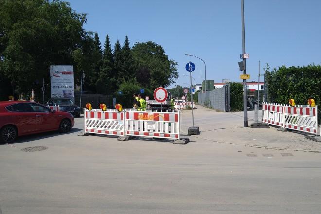 Foto: Sperrung der Prinz-Friedrich-Straße