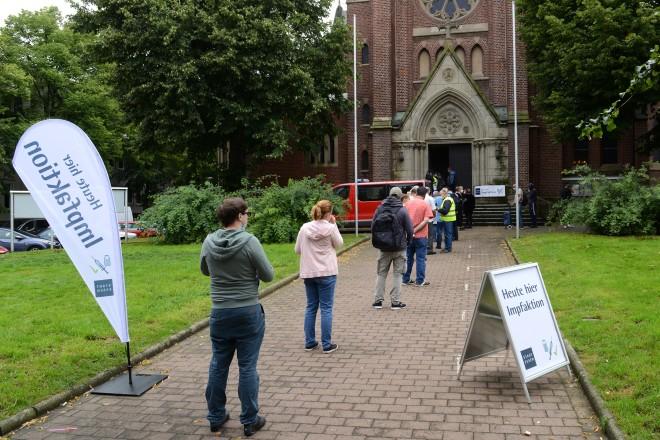 Foto: Impfangebot in Kray: in der Kirche St. Barbara