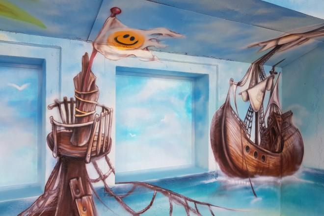 Foto: Die neue Piratengrotte im Grugabad Essen ist fertig.