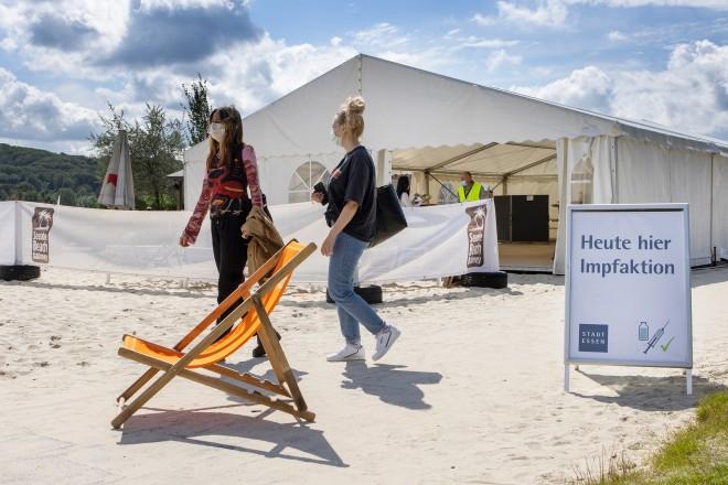 Foto: Impfaktion im Seaside Beach Baldeney