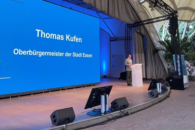 Oberbürgermeister Thomas Kufen beim Deutschen Energierechtstag im Grugapark Essen.