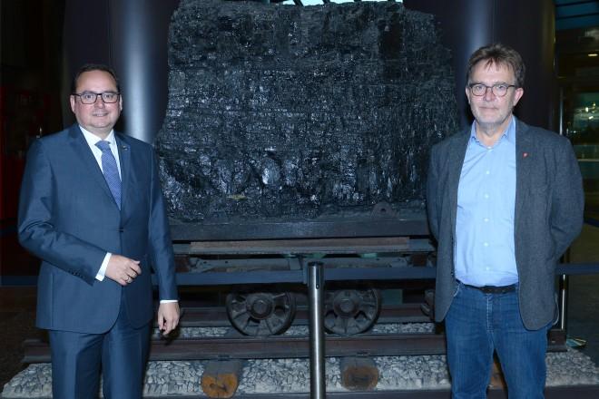 Arbeitnehmerempfang der Stadt Essen: Oberbürgermeister Thomas Kufen und Dieter Hillebrand, Geschäftsführer für die DGB-Region Mülheim-Essen-Oberhausen.