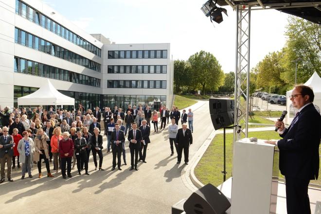 Offizielle Eröffnung des TÜV NORD CAMPUS ESSEN: Auch Oberbürgermeister Thomas Kufen nahm an der Feierstunde teil.