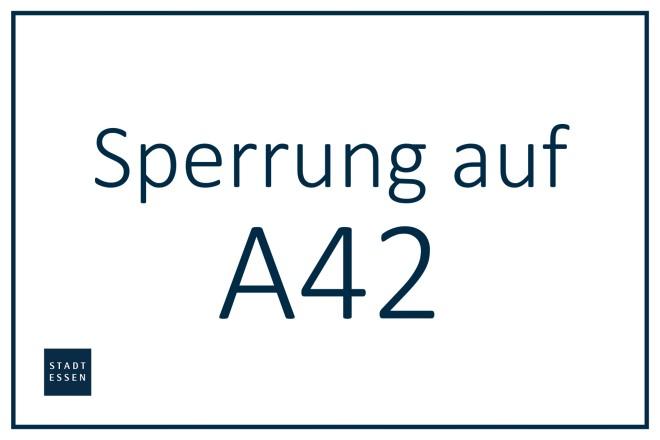 Grafik: Sperrung auf der A42