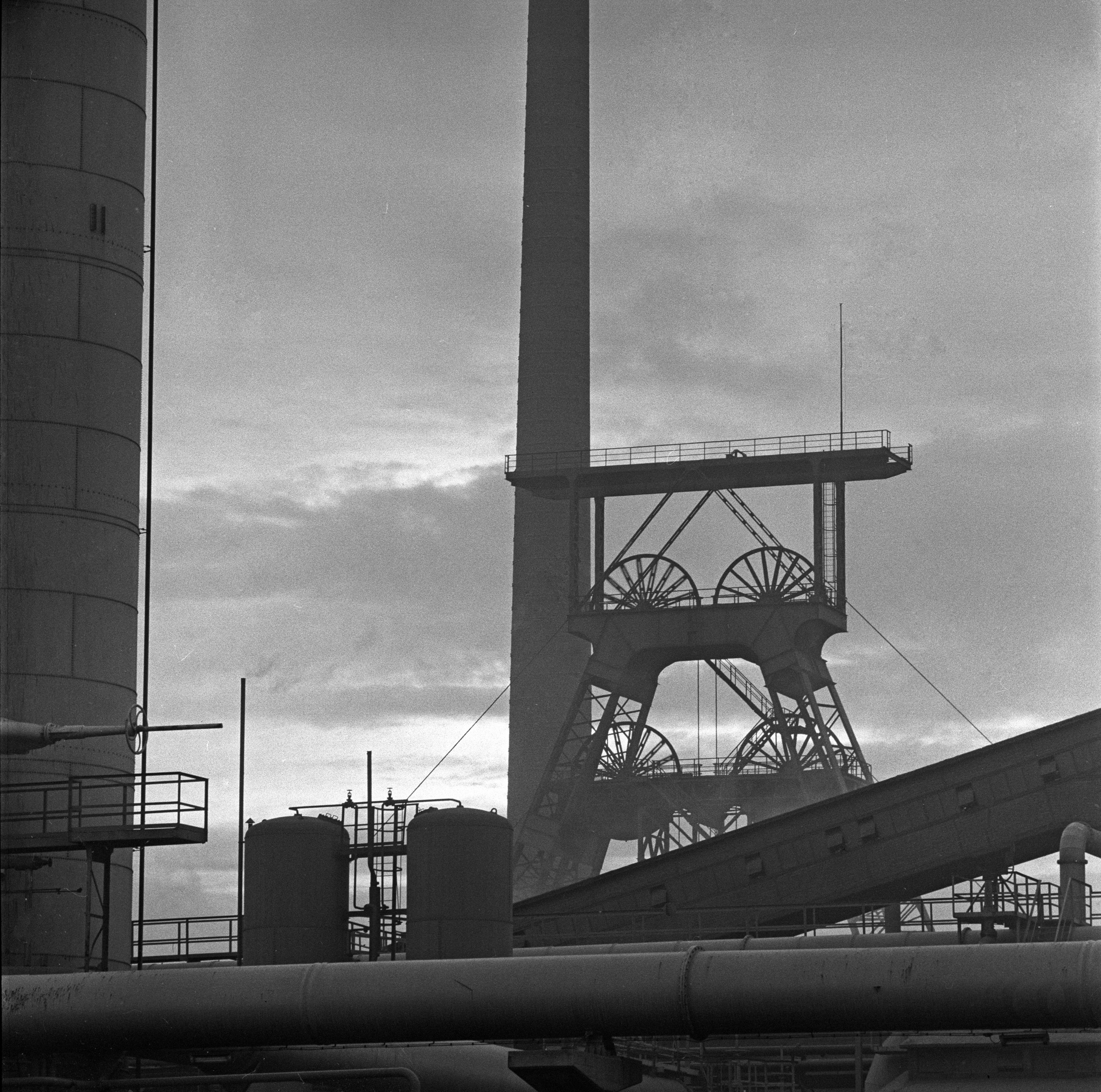 Foto: Zeche Emil Emscher, Altenessen, Februar 1960