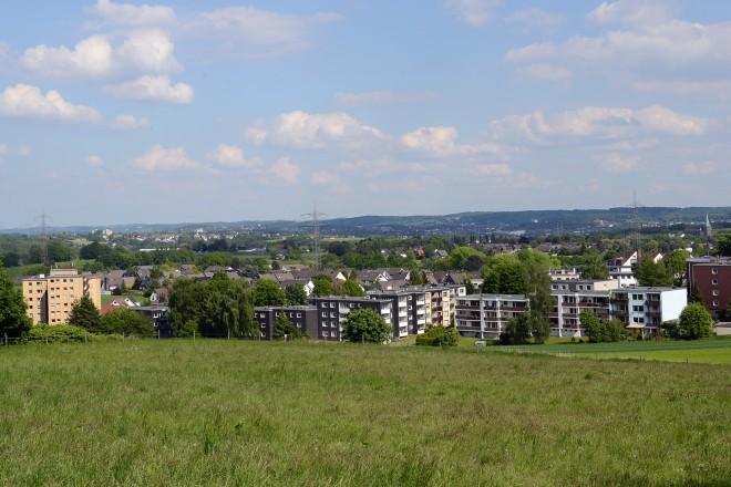 Burgaltendorf; Blick von der Kirchstrasse in Richtung Kohlenstrasse