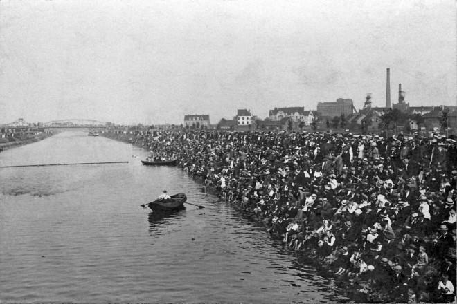 Einweihung des Rhein - Herne Kanals Juli 1914