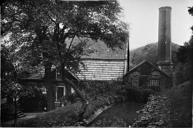 Alte Papiermühle im Hespertal bei Essen, vor 1939