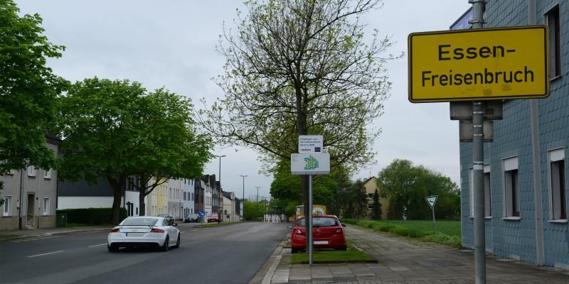 Ortseingangsschild an der Bochumer Landstraße