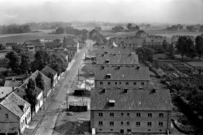 Schlichtwohnungen in Frintrop, Am Kreyenkop, Juli 1952, Foto: Kurt Hartung