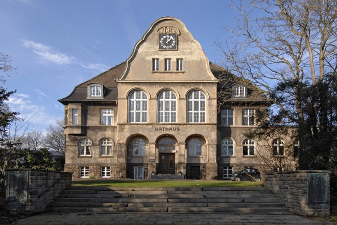 Foto: Altes Rathaus in Essen-Heidhausen.