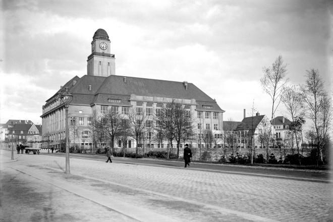 Baugewerbeschule (Baugewerkschule) an der Moltkestr. um 1910