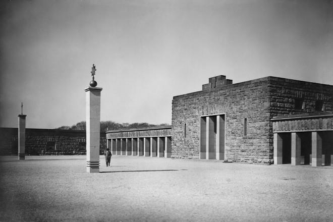 Vorhof des Parkfriedhofes in Huttrop vor 1939