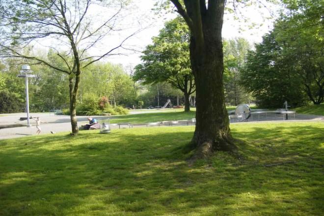 Foto: Wasserspielplatz im Revierpark Nienhausen