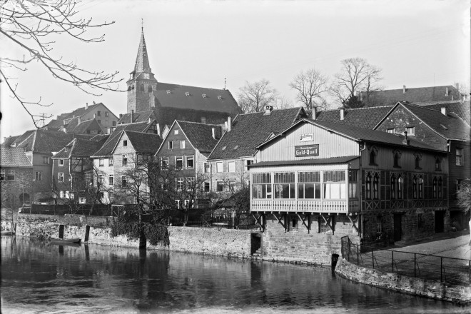 Kettwig am Mühlenkanal vor 1939