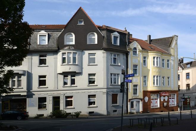 Häuserzeile am Krayer Markt