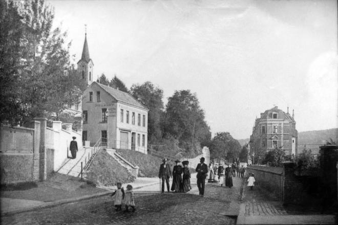 Die Kupferdreherstrasse um 1900