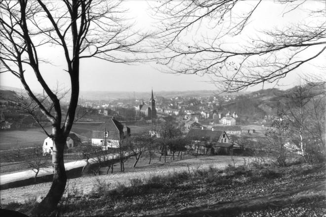 Essen- Kupferdreh Blick vom Priembergweg auf Kupferdreh- Dilldorf 29. 08. 1933