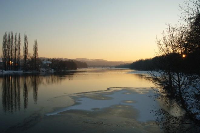 Winter am See. Blick von der Kampmannsbrücke