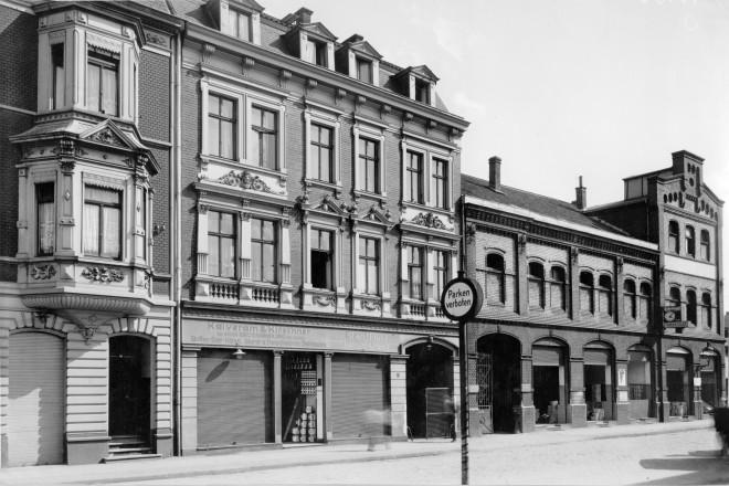 Essen-Nordviertel, Wohn- und Geschäftshäuser an der Rheinische Strasse 1936
