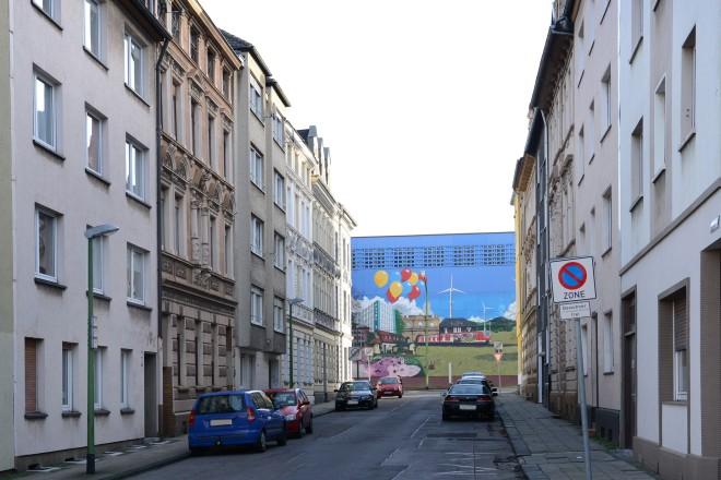 "Blick in die Straße "" Alfrediquelle """