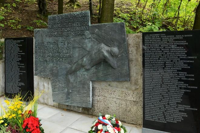 Namentafeln auf der sowj.Gedenk-und Grabstätte Zeche Graf Beust