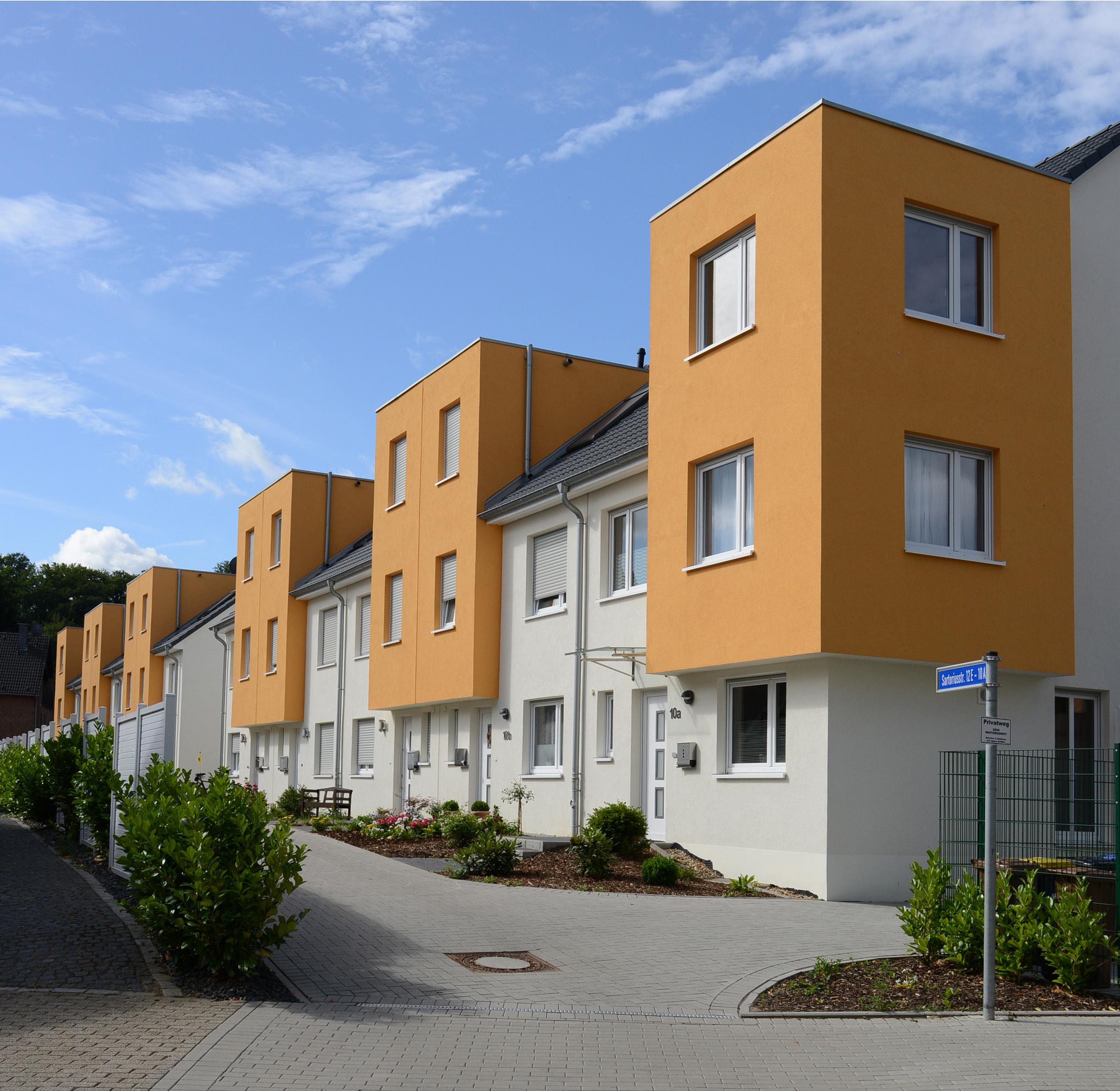 Neubausiedlung an der Sartoriusstrasse