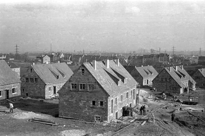 Siedlung in Schonnebeck, 12.02.1950