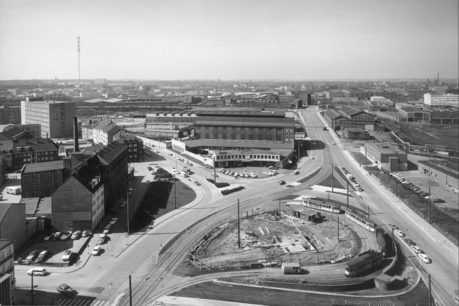 Westviertel, beginnende Frohnhauser Str., aus Richtung Limbecker Platz, April 1964