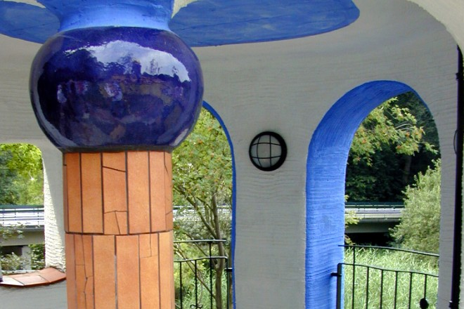 Im Hundertwasserhaus im Grugapark