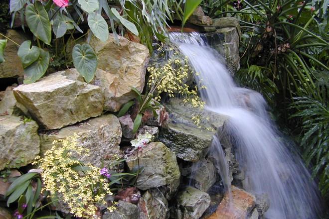 Wasserfall im Regenwaldhaus